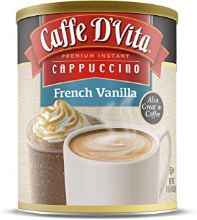 Caffe D'Vita French Vanilla Cappuccino 1 lb can (16 oz)