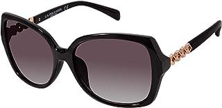 يو اس بولو اسن نظارات شمسية نسائية PA5015 مستطيلة لامعة واقية من الأشعة فوق البنفسجية | كل موسم | هدية كلاسيكية، 70 مم (عب...