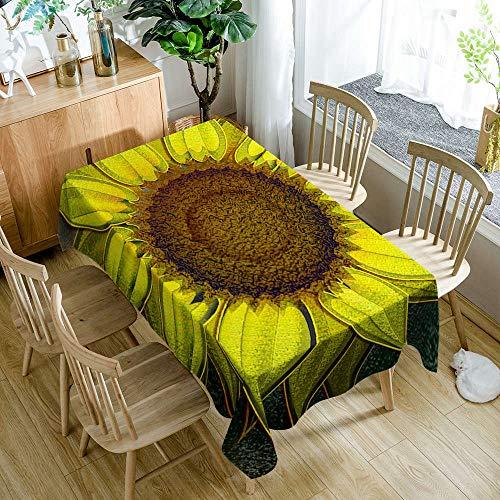 Alayth Manteles ULE Mesa Rectangular Mantel Verde Impermeable De Estilo Pastoral con Estampado De Flores, Mantel, 140cmx180cm_Color5