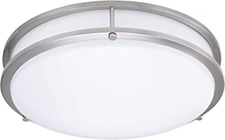 15-Inch Double Ring Dimmable LED Flush Mount Ceiling Light, 22W (100W Equivalent),..