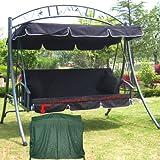 Loywe Luxus Hollywoodschaukel Gartenschaukel LW51Schwarz-NEW