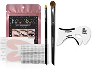 Eye Candy Deluxe Stencil Kit - For Perfect Smokey Eyes or Winged Tip Look. Created by Celebrity Makeup Artist. Reusable, Easy to Clean & Flexible. Cruelty Free & Vegan, Made in USA