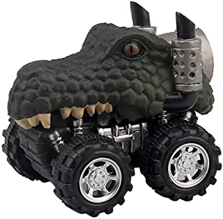Wenini Dinosaur Toys, Animal Children Gift Toy Dinosaur Model Mini Toy Car Gift Pull Back Cars Toy (C❤️)