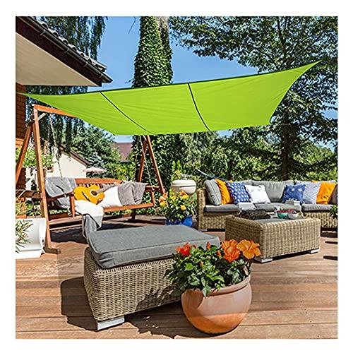 Vela de Sombra 3m x 4m Rectangular Impermeable Toldo Vela de Sombra Jardín al Aire Libre Patio Toldo Parasol Vela Protección Rayos UV con Cuerdas Libres (Verde)(Size:2X2M/6.5X6.5FT)