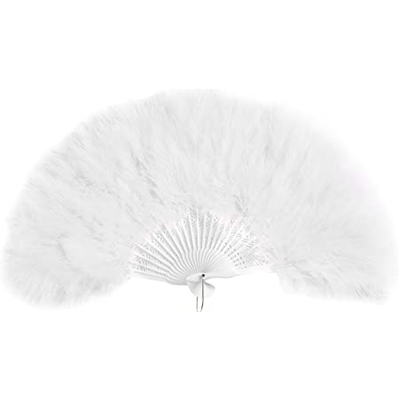 Gorgeous feathered hand fan for all occasions .pls chose the color of your choice .