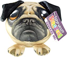 Novelty, Inc. Fuzzy Wuzzy Plush Squeez'em Slow Rising Plush Squishy Toy - Pug