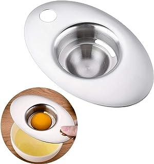 Egg Separator,ShowTop Premium 304 Stainless Steel Egg Yolk White Filter Dishwasher Safe Kitchen Tool for Baking Cake, Egg ...