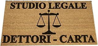 Zerbino Personalizzato - Studio Legale, Tuo Nome, simbolo professione - uso interno, in cocco naturale cm. 100x50x2 LOVEDO...