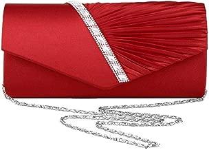 Navigatee Frauen Party Abend Handtasche - Strass Intarsien + Twill, Clutch, Geldbörse, Crossbody-Tasche für Hochzeit, Party, Abschlussball, Fancy Events