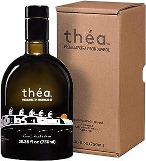 théa Premium Greek Extra Virgin Olive Oil (750ml) I Limited Edition Bottle I Current Harvest 2019/2020 I Koroneiki Variety...