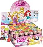 Fancy Me Box of 36 or 6 Bubble Pots - Boys Girls Disney Princess Bubbles Party Loot Bag Stocking Fillers Garden Game Ideas (Box of 36, Disney Princess)