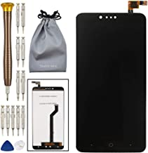 LCD Touch Screen Digitizer Assembly Broken Screen Replacement Parts with Small Kits for ZTE Zmax Pro Z981 - Black