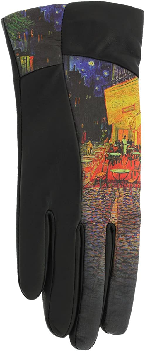 ICON Leather Women's Lined Gloves - TERRACE AT NIGHT (X-Large)