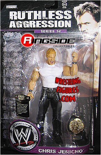 WWE Wrestling Ruthless Aggression Series 34 Action Figure Chris Jericho by Jakks