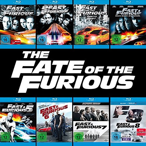 Fast and the Furious 1 - 8 Collection (8er Blu-ray-Set) Keine Box