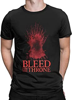 Bleed for The Throne Graphic T-Shirt Game TV Series Thrones Style Tops Tees for Men