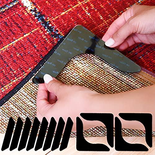 滑り止めシート 超強力タイプ 【12枚セット】 カーペット 絨毯 ラグ マット 「洗って繰り返し使える」 転倒防止 滑り止めテープ 滑り止めシール【SunSlow】