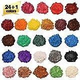Wtrcsv Epoxidharz Farbe metallic 25 Farben, Mica Powder, Epoxy Resin Farbe Farbpigmente...