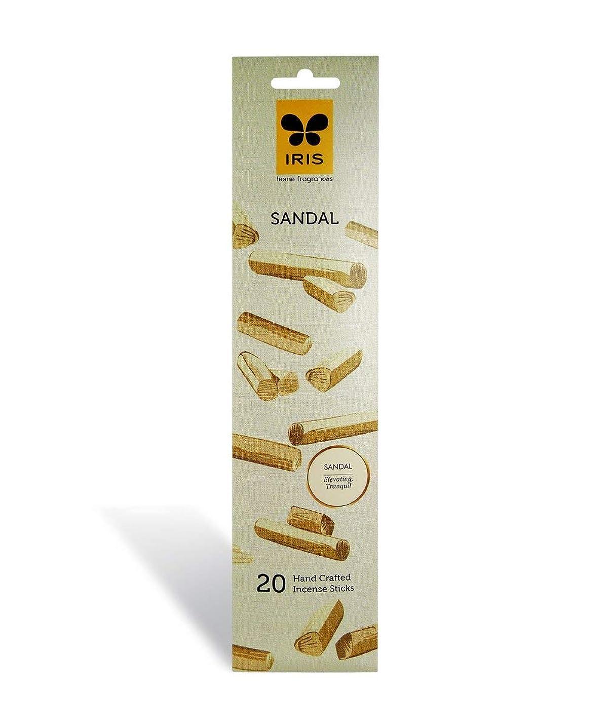 ダルセット浴室バイナリIRIS Signature Sandal Fragrance Incense Sticks