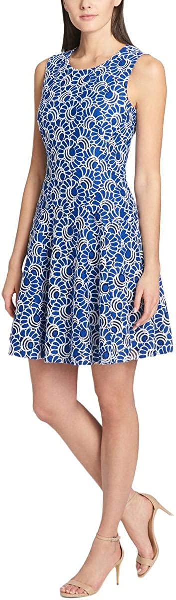 Tommy Hilfiger Womens Lace Sleeveless Cocktail Dress Blue 12