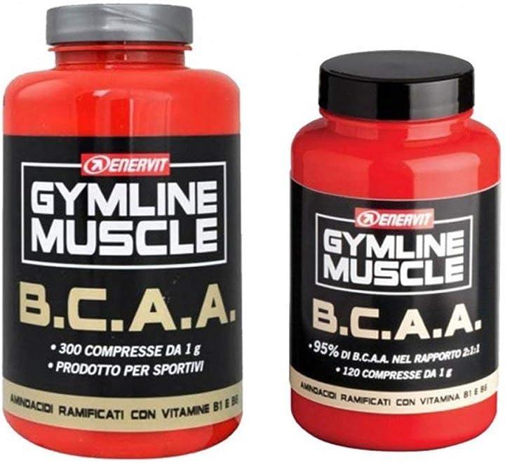 B.c.a.a. amminoacidi ramificati 300 compresse+120 omaggio enervit gymline muscle 926208315