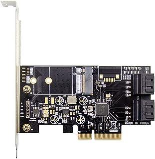 PCIE X4 naar 4 Port SATA3.0 M.2 Key B Conversiekaart High Speed ??SATAIII 6Gbps Uitbreidingskaart voor SSD 2230 2242