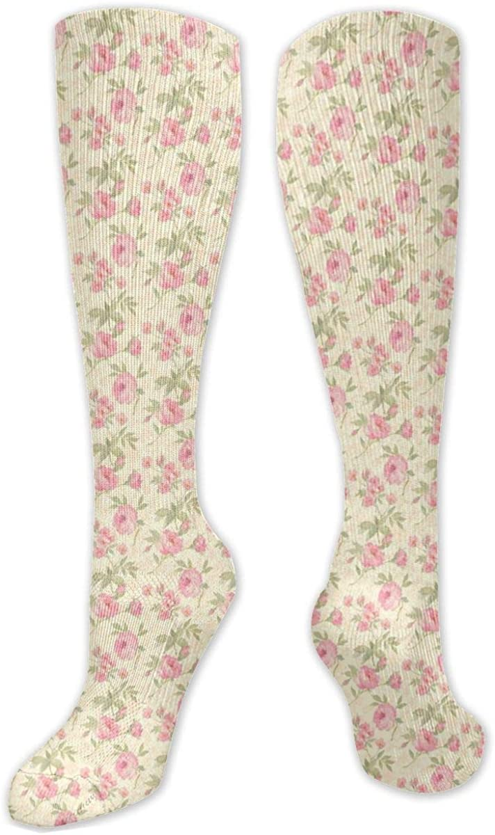 Red Rose Knee High Socks Leg Warmer Dresses Long Boot Stockings For Womens Cosplay Daily Wear