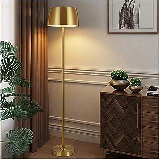 Lampe sur pied Or Lampadaire Télécommande Dimming américain Simple lecture Lampe de table Salon Chambre personnalité éléga...