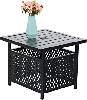 PHI VILLA Outdoor Patio Umbrella Side Table Base Stand with 1.57