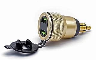SANON Motorfiets Dual Usb Lader Adapter Met Led Voltmeter Power Adapter Din Hella Plug
