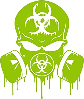 UR Impressions LGrn 20in. Skull Dripping Biohazard Respirator Decal Vinyl Sticker Graphics for Cars Trucks SUV Vans Walls Windows Laptop|Lime Green|20 X 18.1 inch|UR734-LG