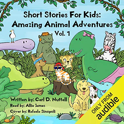 Short Stories for Kids - Amazing Animal Adventures (6 Exciting Mini Books for Children): Volume 1 audiobook cover art
