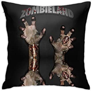 MIWOADA Zombieland Throw Pillow Covers Modern Decorative Throw Pillow Case Cushion Case for Room Bedroom Room Sofa Chair Car, 18 X 18 Inch