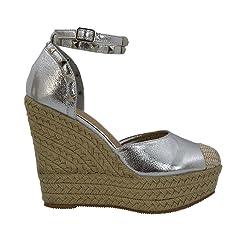 044551ce404 ESSEX GLAM Womens Wedge Heels Ankle Strap Platform Espadrille .