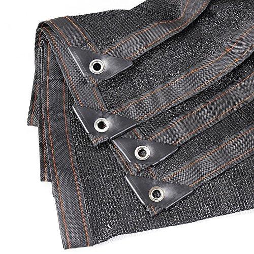 HUO Ombre Net Balcon 80% Sunscreen Isolation Network Noir (Couleur : Noir, Taille : 4 * 8m)