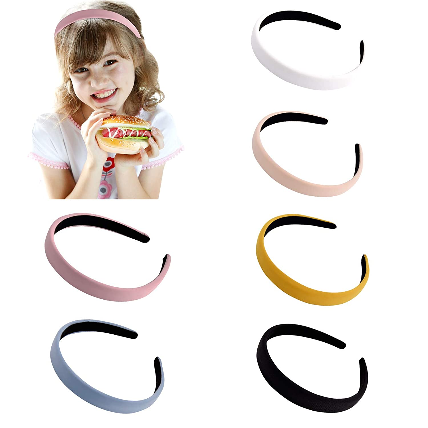 DEEKA 6 Pieces Fabric Headband Vintage Bands Color Solid Regular discount fo Hair We OFFer at cheap prices