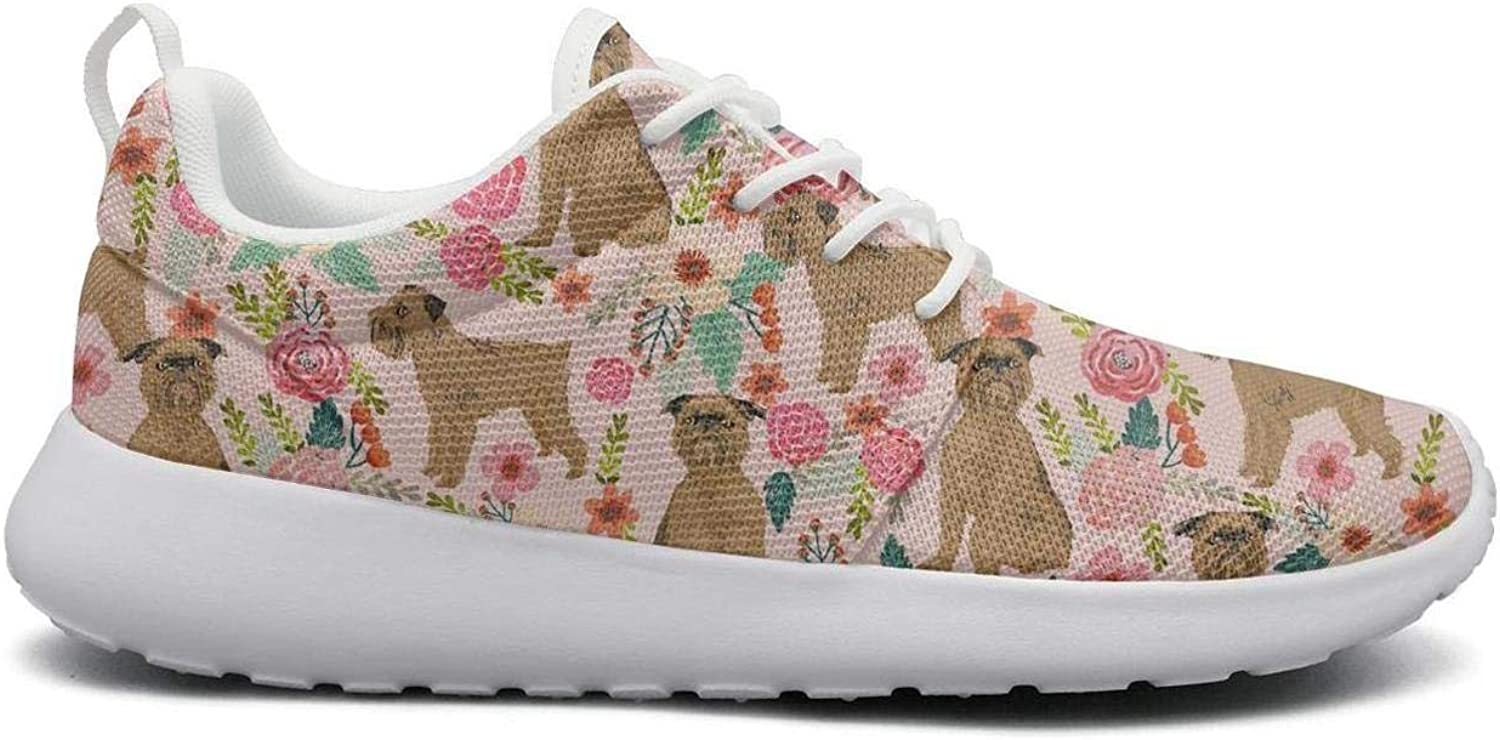 Pyrenees Dog Vintage Florals Casual Sneakers for Women new Breathable Girl Running shoes