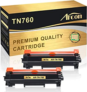 Arcon Compatible Toner Cartridge Replacement for Brother TN760 TN-760 TN730 HLL2395DW HL-L2350DW Toner Brother MFC-L2710DW HLL2370DW DCP-L2550DW MFC-l2750dw HLL2390DW L2750DWXL Toner Printer Ink