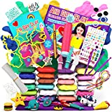 GirlZone Air Dry Clay Ultimate Craft Kit, Over 100 Piece Kids Modeling Clay Set, Air Dry Clay for Kids with No Baking Required, Arts and Crafts for Girls Age 3+