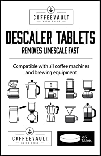 Descaler Tablets: Universal Coffee Maker Descaling Solution, Descale Keurig, Nespresso, Ninja, Braun, Mr Bunn, Delonghi, Verismo, Dolce Gusto and Commercial Machines with Natural, Clean Decalcifier