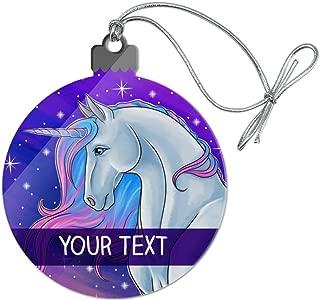 GRAPHICS & MORE Personalized Custom Majestic Unicorn 1 Line Acrylic Christmas Tree Holiday Ornament