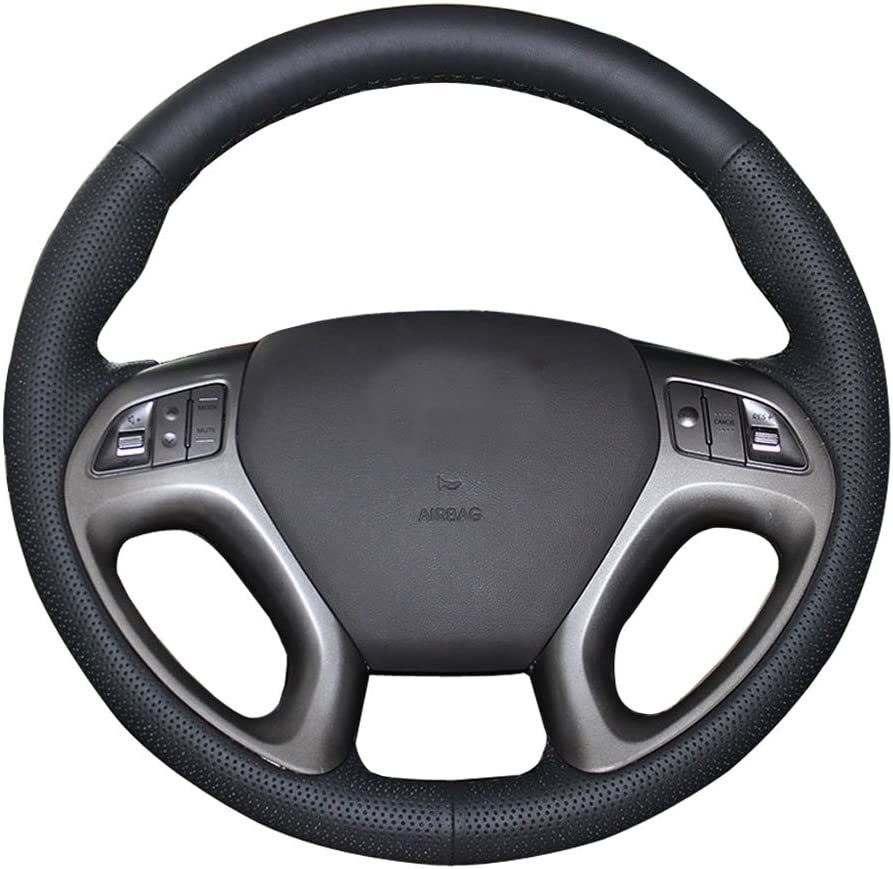 trend rank Eiseng DIY Stitching Car Genuine Wheel Direct stock discount Steering Cover fo Leather