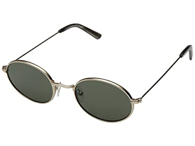 Madewell Wire-Rimmed Sunglasses (Green/Gold) Fashion Sunglasses