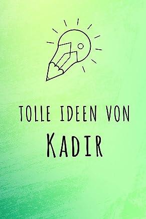 Tolle Ideen von Kadir: Kariertes Notizbuch mit 5x5 Karomuster für deinen Vornamen