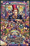 Willy Wonka and The Chocolate Factory Movie Poster 24 x 36 Inches Full Sized Print Unframed Ready for Display - Fan Art Limited Edition