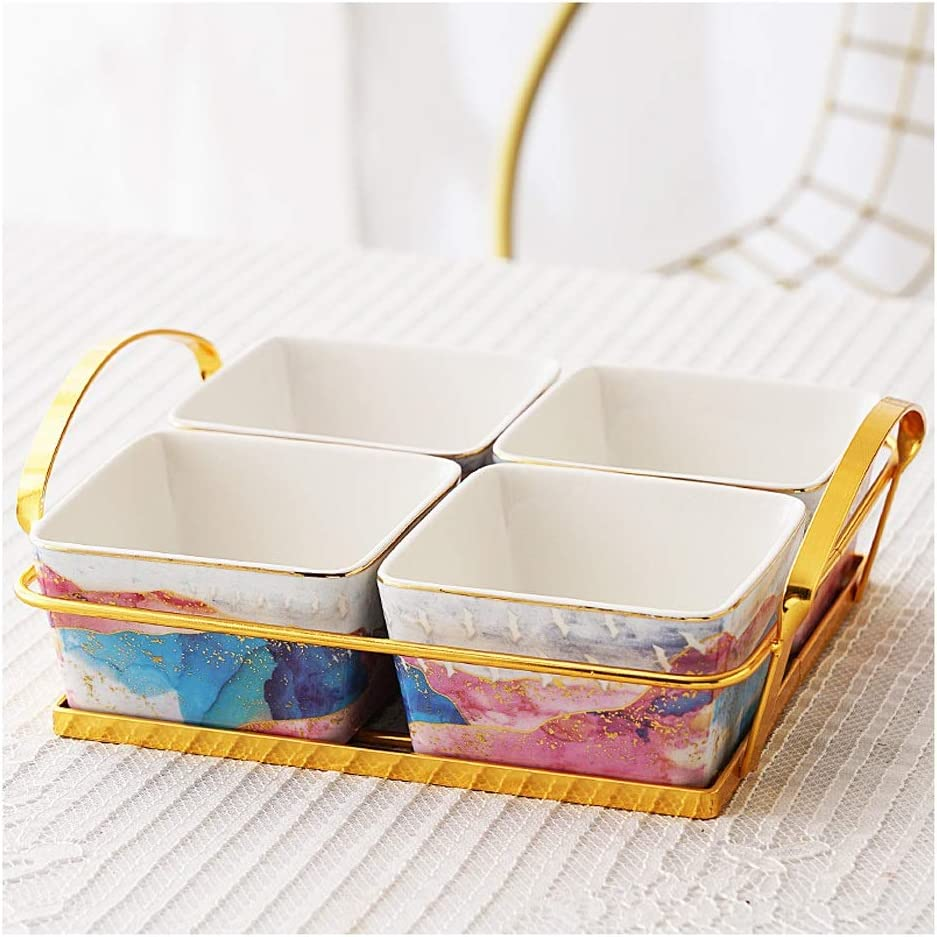 Sauce Dish Ceramic Max 49% OFF Grid Sale price Plate Snacks Small Fruit Dis Dried
