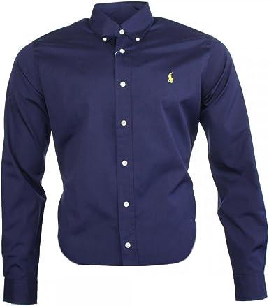 Ralph Lauren Camisa clásica para hombre, color azul marino