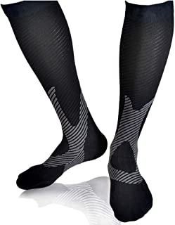 TERSELY Compression Socks for Women & Men, Best for Flight Travel, Running, Skiing, Athletics, Nurses, Shin Splints, Pregn...