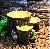 Milkee 亀の隠れ家 蛇・ヤモリなどの住家 インテリア 水槽 オブジェ  飾り フードボウル 飲み水ボウル