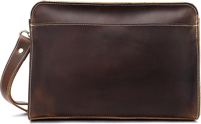 Genuine Overseas parallel import regular item Leather Mens Clutch Bag Business Handbag Purse Man Virginia Beach Mall Hand
